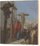 The Lamentation At The Foot Of The Cross   Wood Print