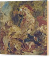 The Lion Hunt Wood Print