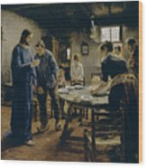 The Mealtime Prayer Wood Print