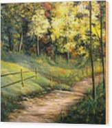 The Pathway Of Life Wood Print