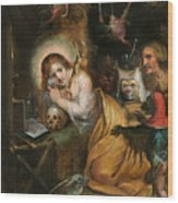 The Penitent Mary Magdalene Visited By The Seven Deadly Sins Wood Print