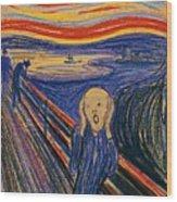 The Scream Ver 1895 Edvard Munch Wood Print