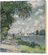 The Seine At Argenteuil Wood Print