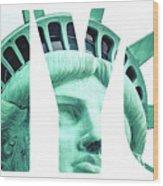 The Statue Of Liberty At New York City  Wood Print