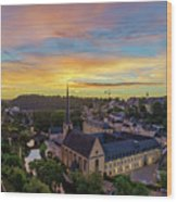 The Superb View Of The Grund, Luxembourg Wood Print