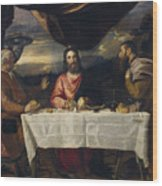 The Supper At Emmaus Wood Print