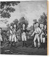 The Surrender Of General Burgoyne Wood Print