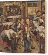 The Tax Collectors Office  Wood Print