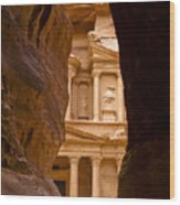 The Treasury Of Petra Wood Print
