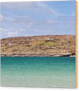 The Turquoise Water Of Dogs Bay Ireland Wood Print