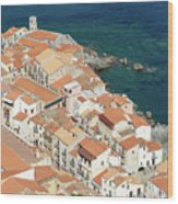 The View From The Rocca De Cefalu Wood Print