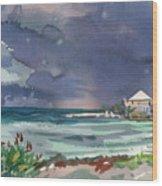 Thunderstorm Over Key West Wood Print