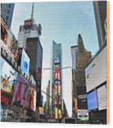Times Square New York City Wood Print