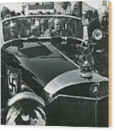 Tom Barrett And Family With High Bidder  Earl Clark At $153,000 Of Adolf Hitlers Mercedes Benz 770k Wood Print