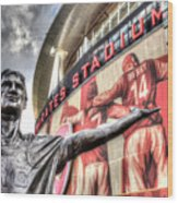 Tony Adams Statue Emirates Stadium Wood Print