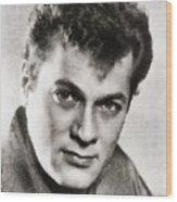 Tony Curtis, Vintage Hollywood Legend Wood Print