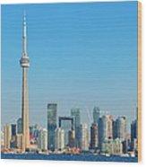Toronto Skyline In The Day Wood Print