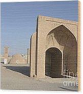 Towers Of Silence. Yazd, Iran Wood Print