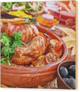 Traditional Thanksgiving Day Dinner Wood Print