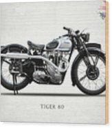 Triumph Tiger 80 1937 Wood Print
