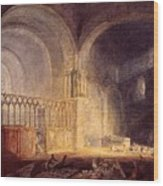 Turner Joseph Mallord William Transept Of Ewenny Prijory Glamorganshire Joseph Mallord William Turner Wood Print