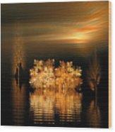 Twilight On The Bayou Wood Print