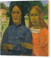 Two Women Wood Print