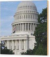 U S Capitol Wood Print