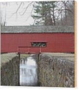 Uhlerstown Covered Bridge Wood Print