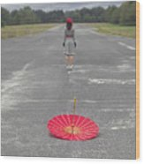 Umbrella Wood Print by Joana Kruse