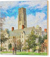 University Hall Wood Print