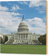 Us Capitol Washington Dc Negative Wood Print