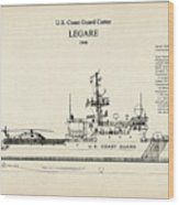 U.s. Coast Guard Cutter Legare Wood Print