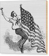 U.s. Flag, 19th Century Wood Print
