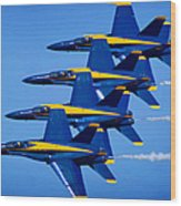 Us Navy Blue Angels Wood Print