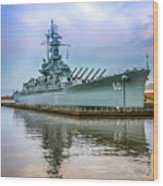 Uss Alabama Wood Print