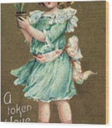 Valentines Day Card Wood Print