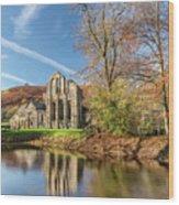 Valle Crucis Abbey  Wood Print