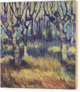 Van Gogh's Orchard Wood Print