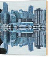 Vancouver Skyline Canada Wood Print