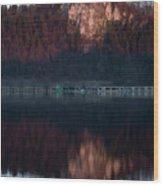 View Across Lake Bled Wood Print