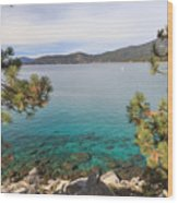 View Across Lake Tahoe Wood Print