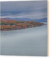 View From The Bear Mountain Bridge Wood Print