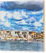 View Of Brindisi From The Ship Wood Print