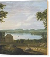 View Of Springfield On The Connecticut River Wood Print