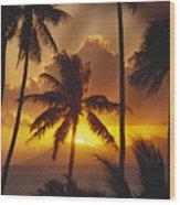 View Of Tahiti Wood Print