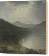 View On The Hudson Wood Print