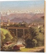 views of Bern and the Bernese Oberland Wood Print