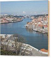 Vila Nova De Gaia And Porto In Portugal Wood Print