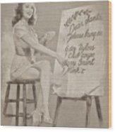 Vintage Pinup Wood Print